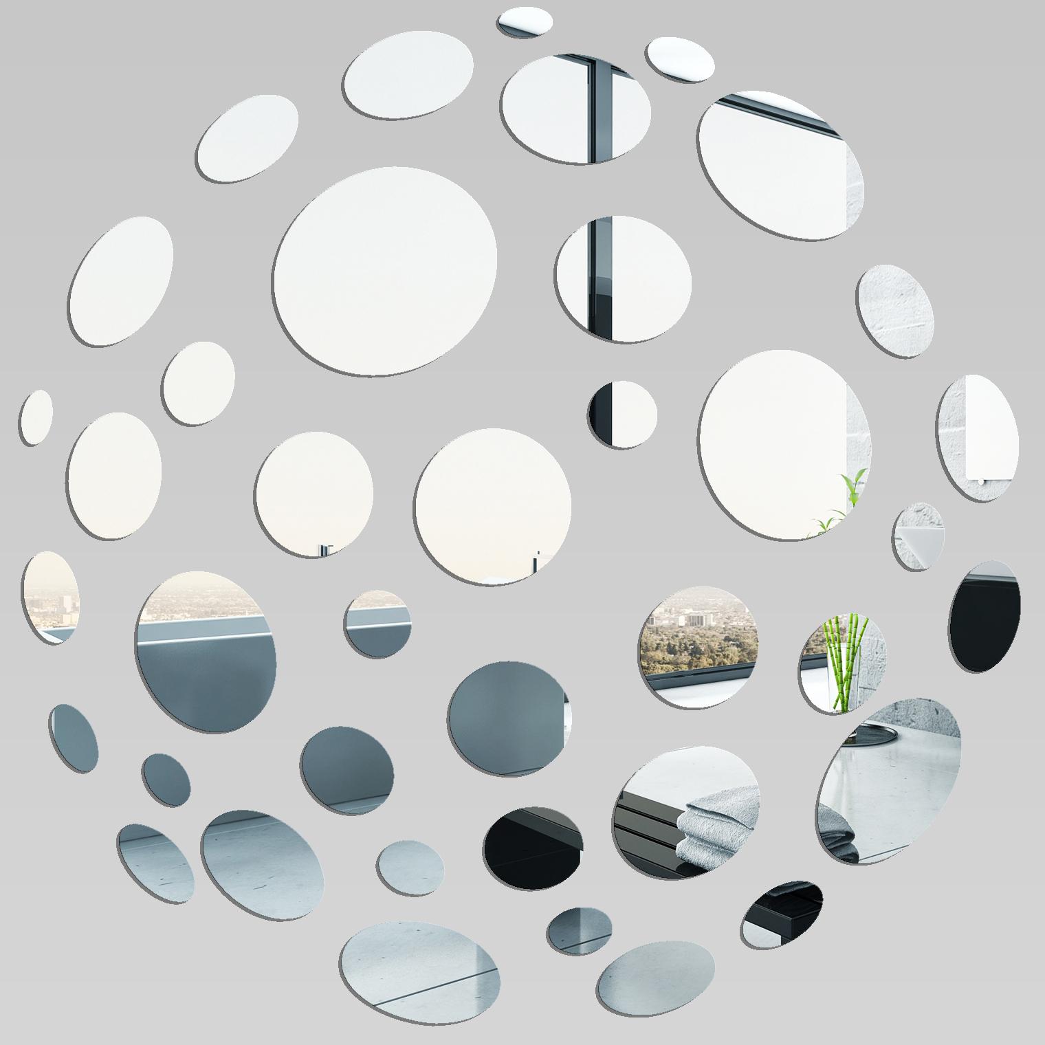 Vinilos folies espejos decorativo acr lico pl xiglas 10 for Cuadros con espejos redondos