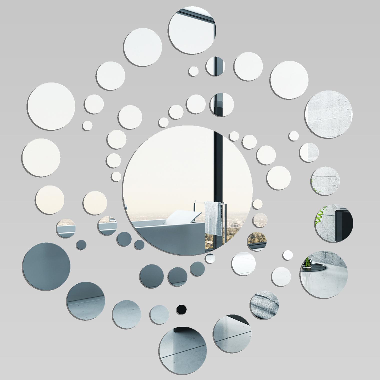 Vinilos folies espejos decorativo acr lico pl xiglas espiral for Espejos con mesas decorativos