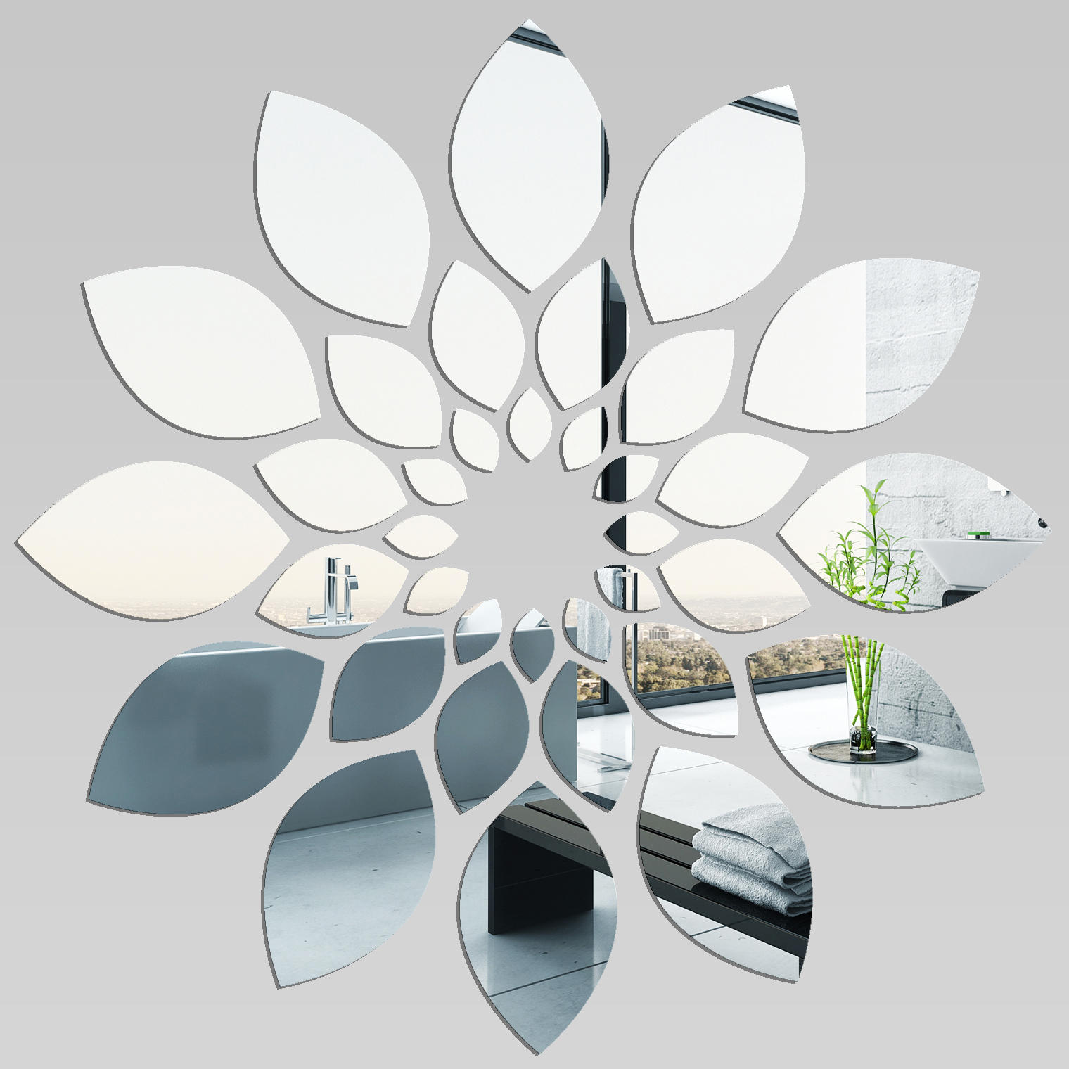 Vinilos folies espejos decorativo acr lico pl xiglas flor for Modelos de espejos decorativos