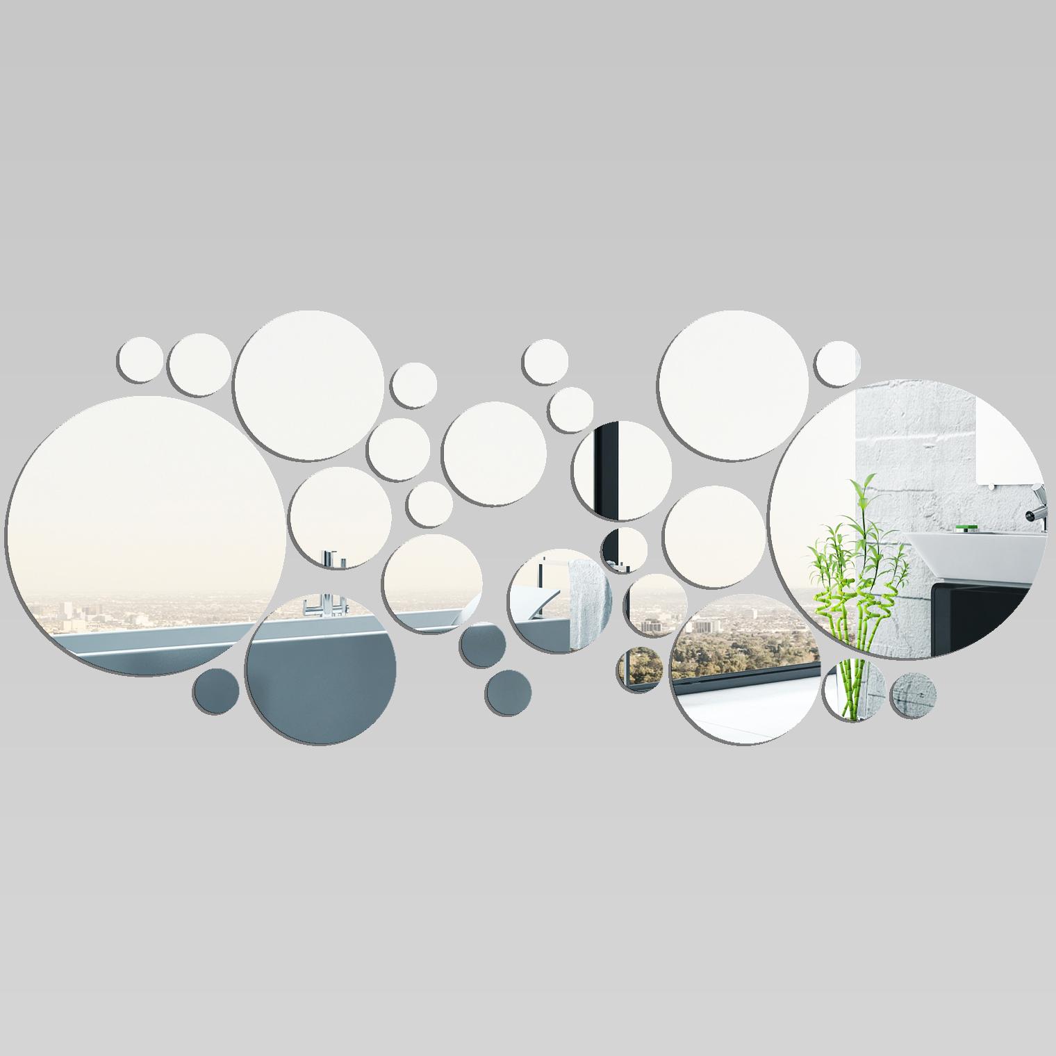 Vinilos folies espejos decorativo acr lico pl xiglas for Espejos de pared redondos