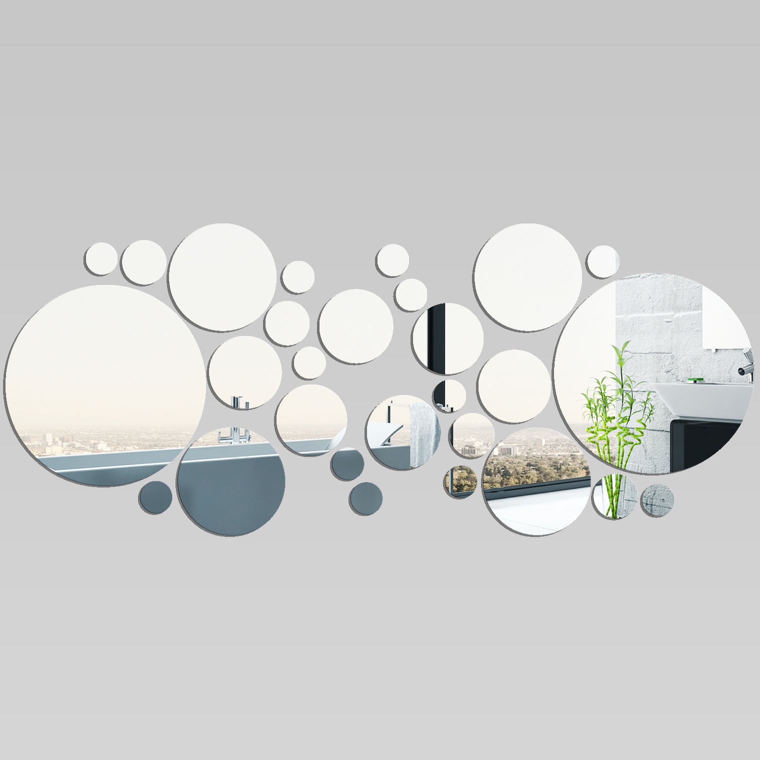 Vinilos folies espejos decorativo acr lico pl xiglas for Espejos redondos decorativos