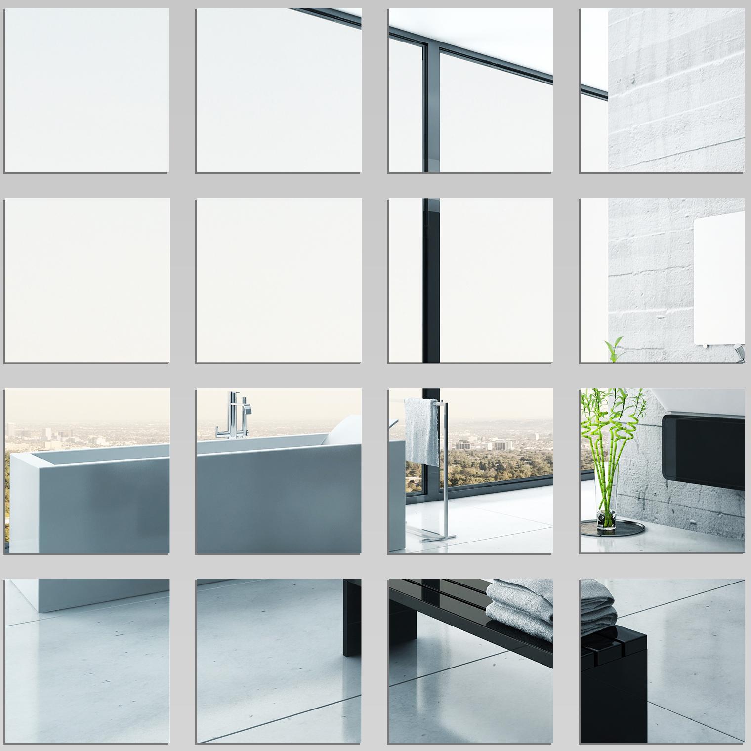 kit espejos decorativo acrlico plxiglas cuadrados