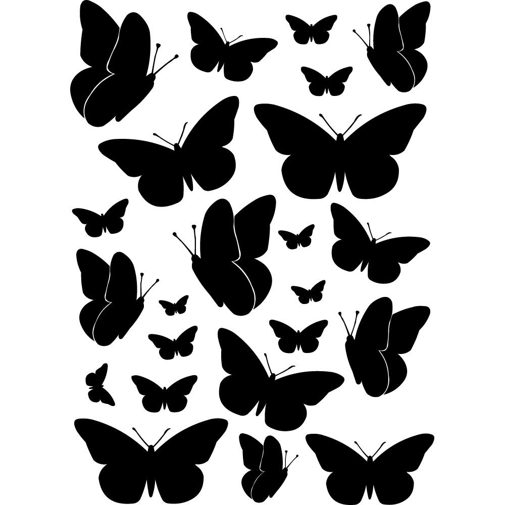 Vinilos folies kit vinilo decorativo 23 mariposas for Vinilos mariposas
