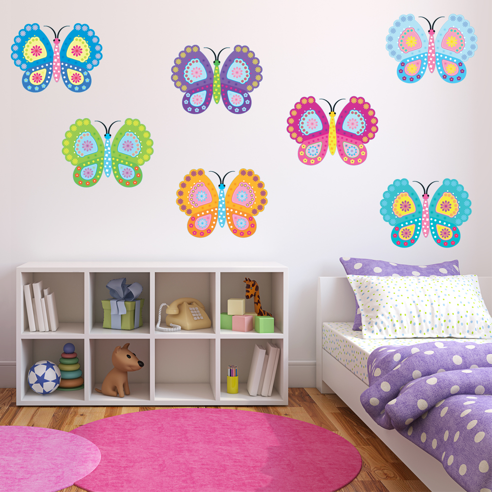 Vinilos folies kit vinilo decorativo infantil 12 mariposas for Vinilos mariposas