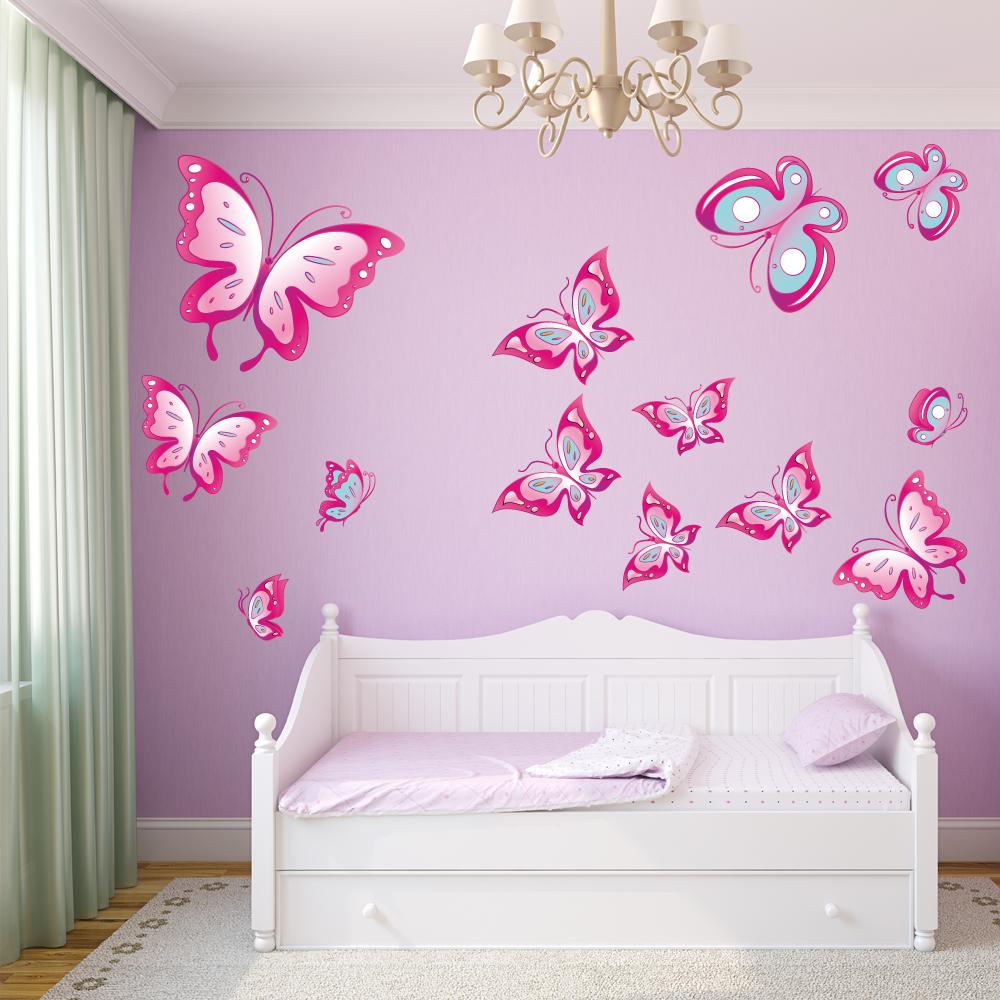 Vinilos folies kit vinilo decorativo infantil 13 mariposas - Ideas pintar habitacion infantil ...