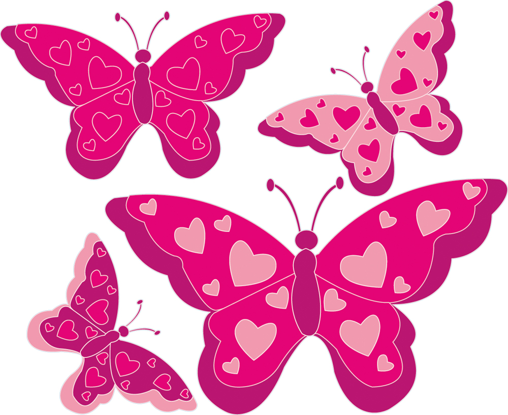 Vinilos folies kit vinilo decorativo infantil 4 mariposas for Vinilos mariposas