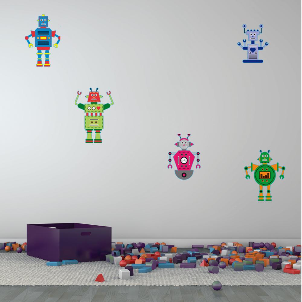 Vinilos Folies Kit Vinilo Decorativo Infantil 5 Robots
