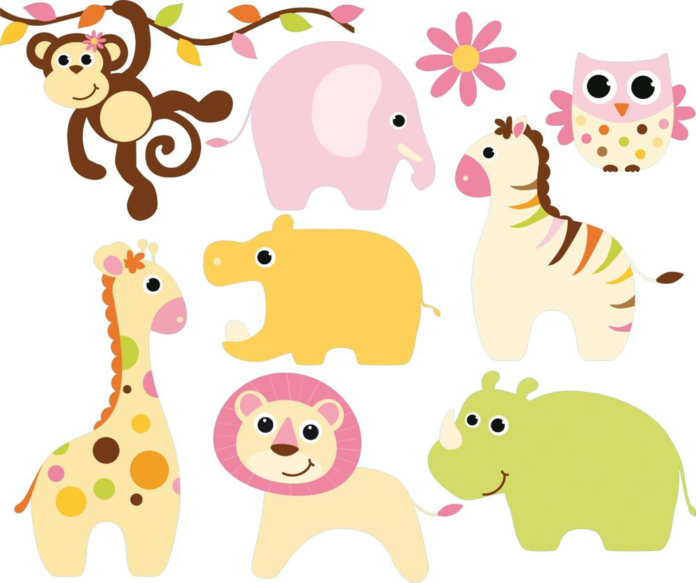 Vinilos folies kit vinilo decorativo infantil 8 animales for Vinilos infantiles animales