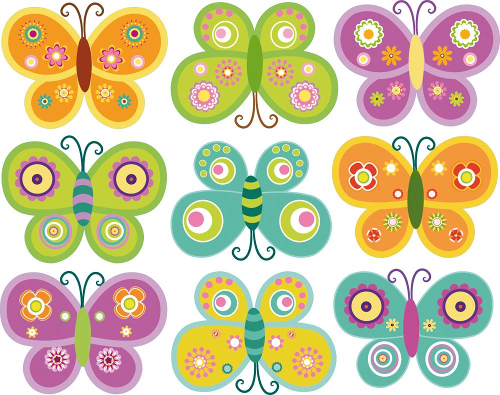 Vinilos folies kit vinilo decorativo infantil 9 mariposas - Dibujos para paredes infantiles ...