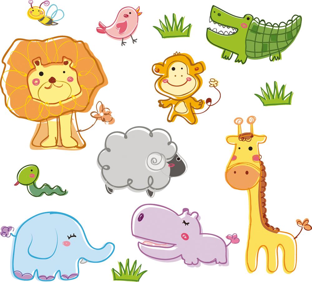 Vinilos folies kit vinilo decorativo infantil animales for Vinilos infantiles animales