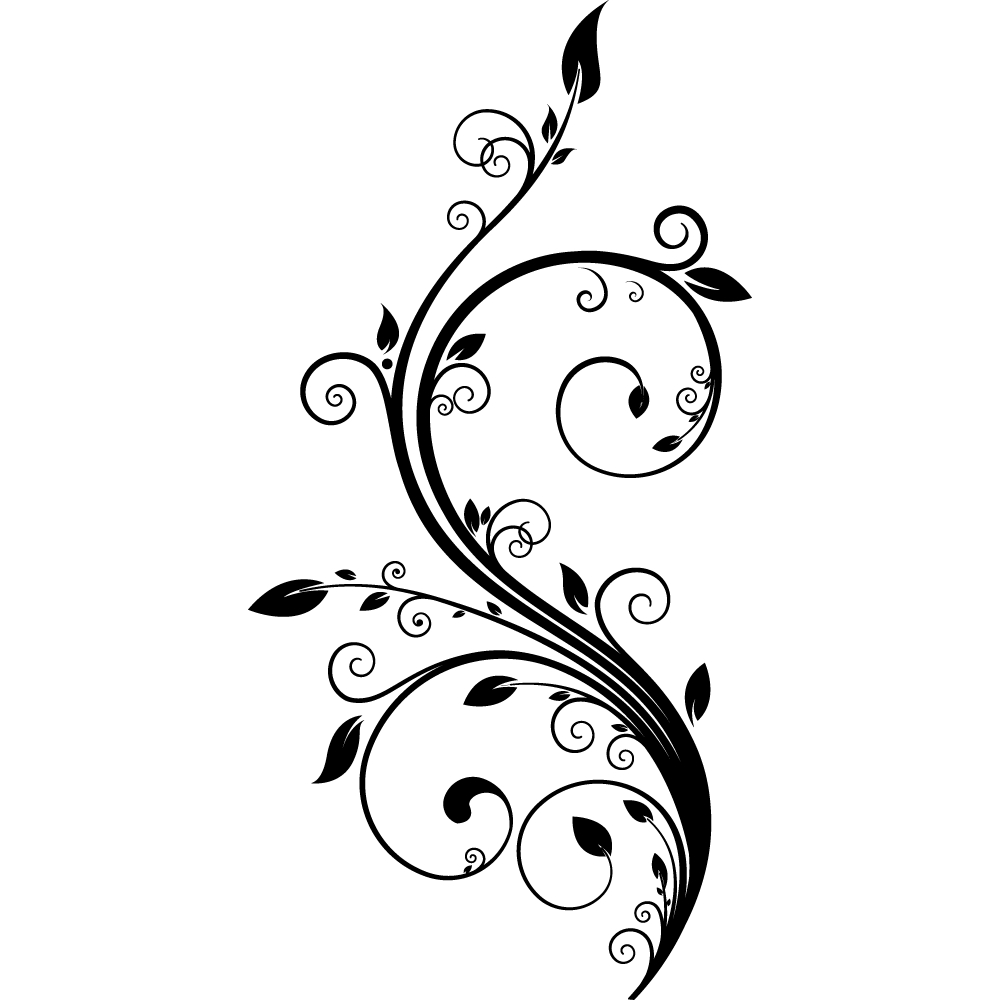 Vinilos folies vinilo decorativo floral for Vinilos decorativos blancos