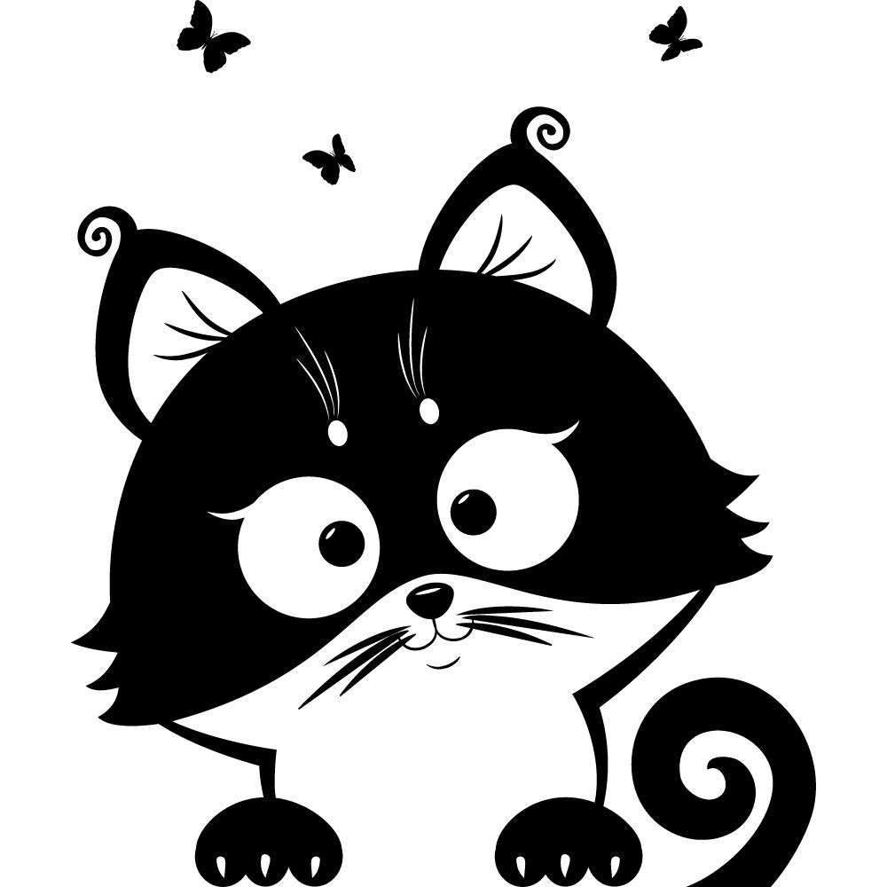 Vinilos folies vinilo decorativo gato - Vinilos decorativos gatos ...