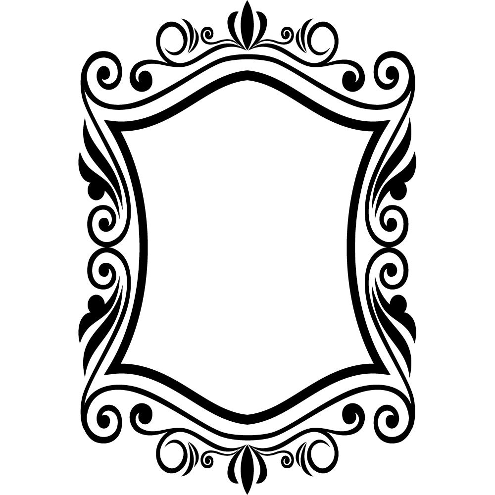Vinilos folies : Vinilo decorativo marco