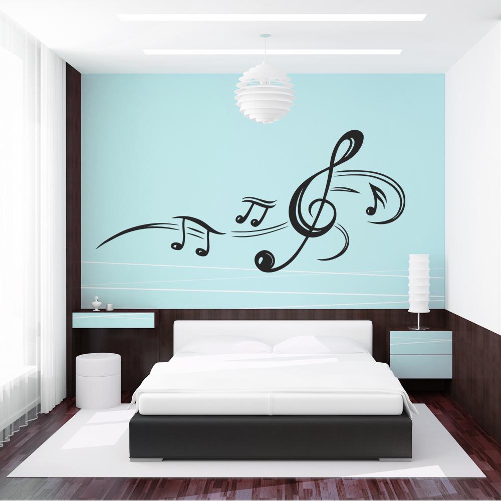 Vinilos folies vinilo decorativo notas musicales for Vinilos decorativos pared musicales