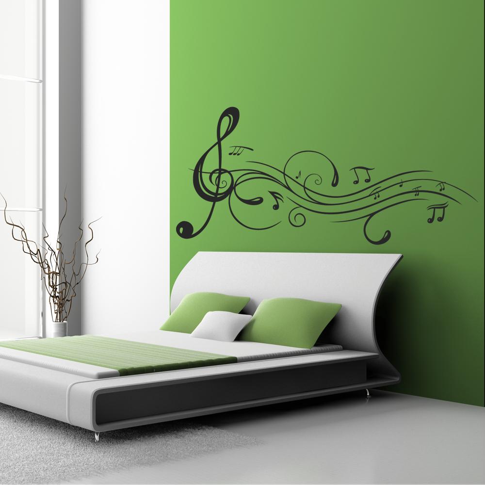 Vinilos folies vinilo decorativo notas musicales - Vinilos para pared de dormitorio ...