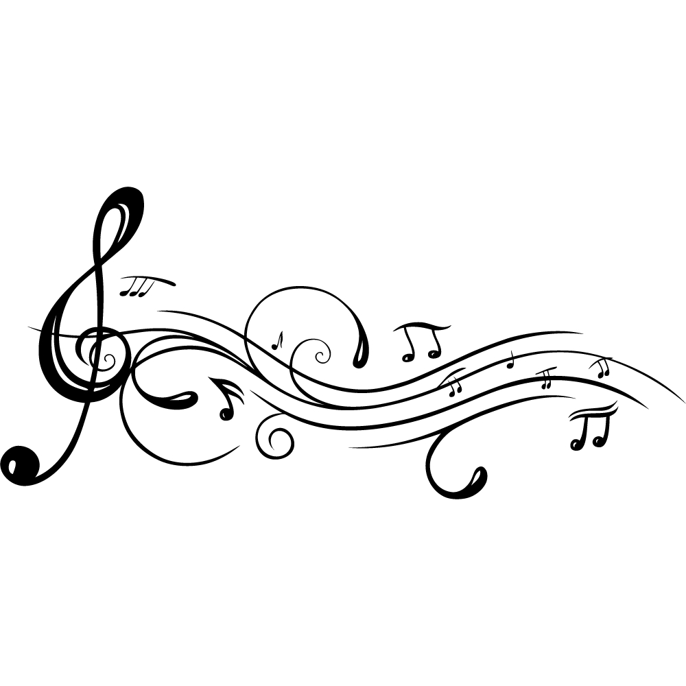 Vinilos folies vinilo decorativo notas musicales - Cenefas para dibujar ...