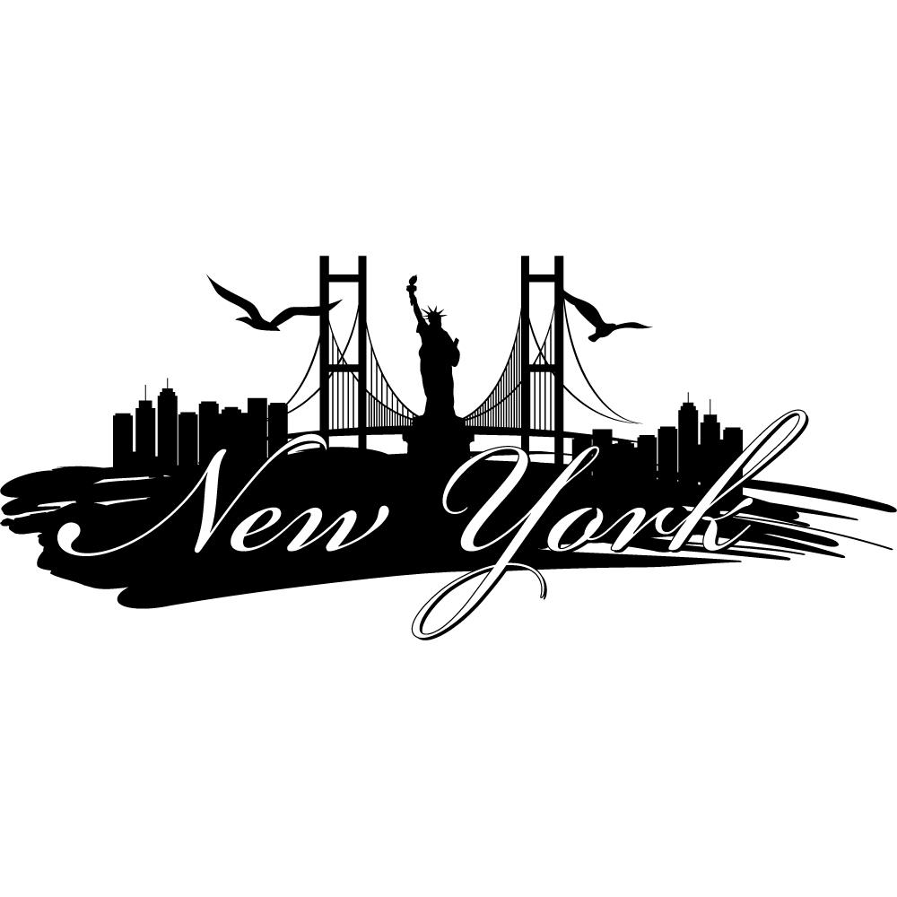 Vinilos folies vinilo decorativo nueva york for Vinilos pared new york