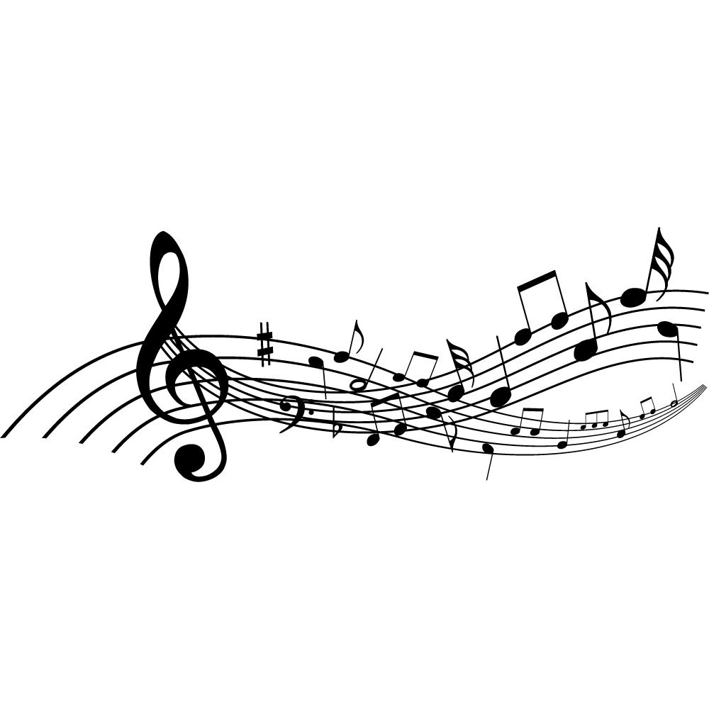 Vinilos folies vinilo decorativo pentagrama musical for Vinilos decorativos con notas musicales