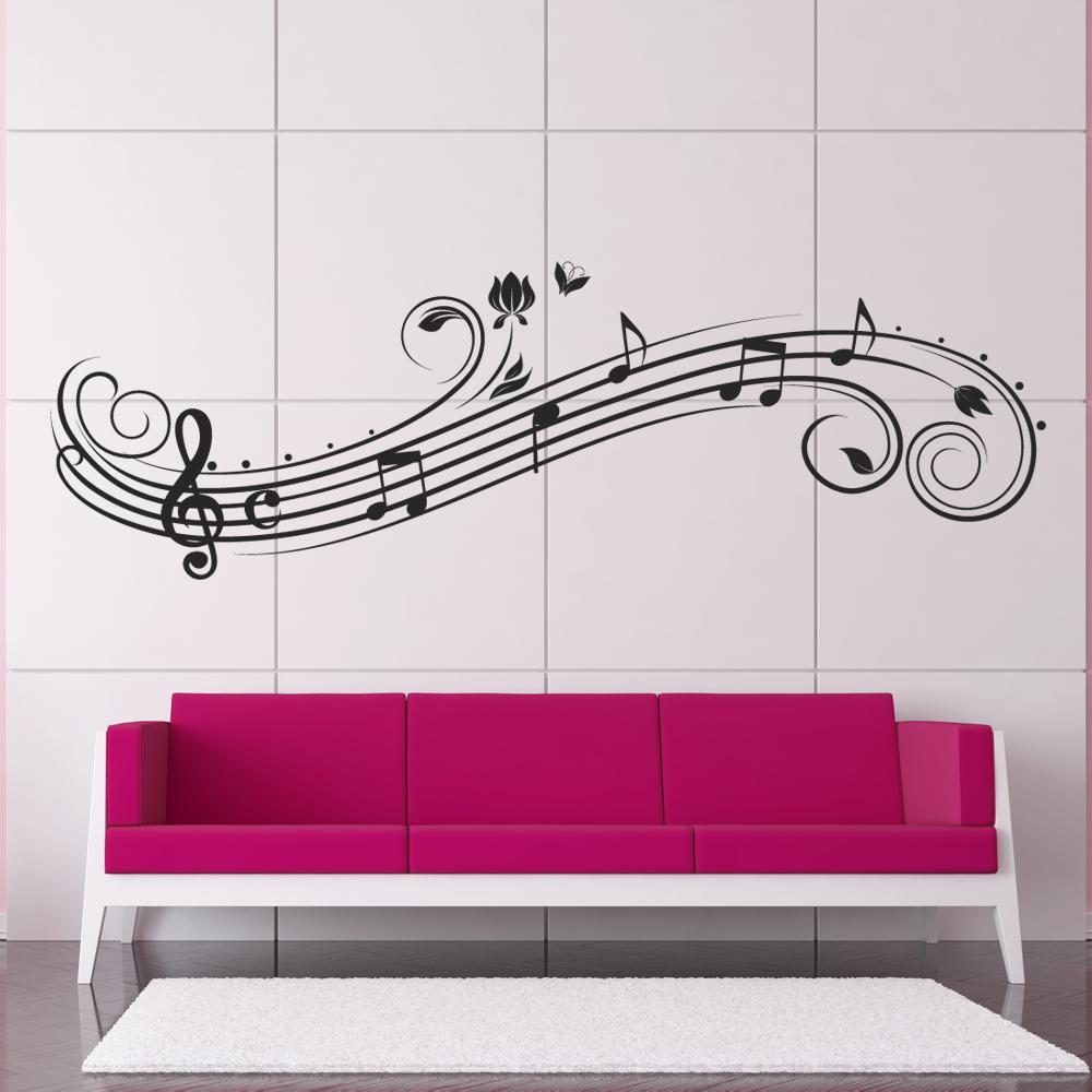 vinilos folies vinilo decorativo pentagrama musical