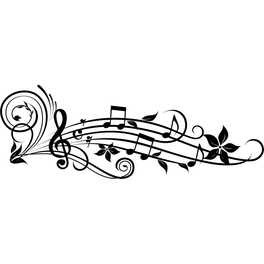 Vinilos folies vinilo decorativo pentagrama musical for Vinilos decorativos pared musicales