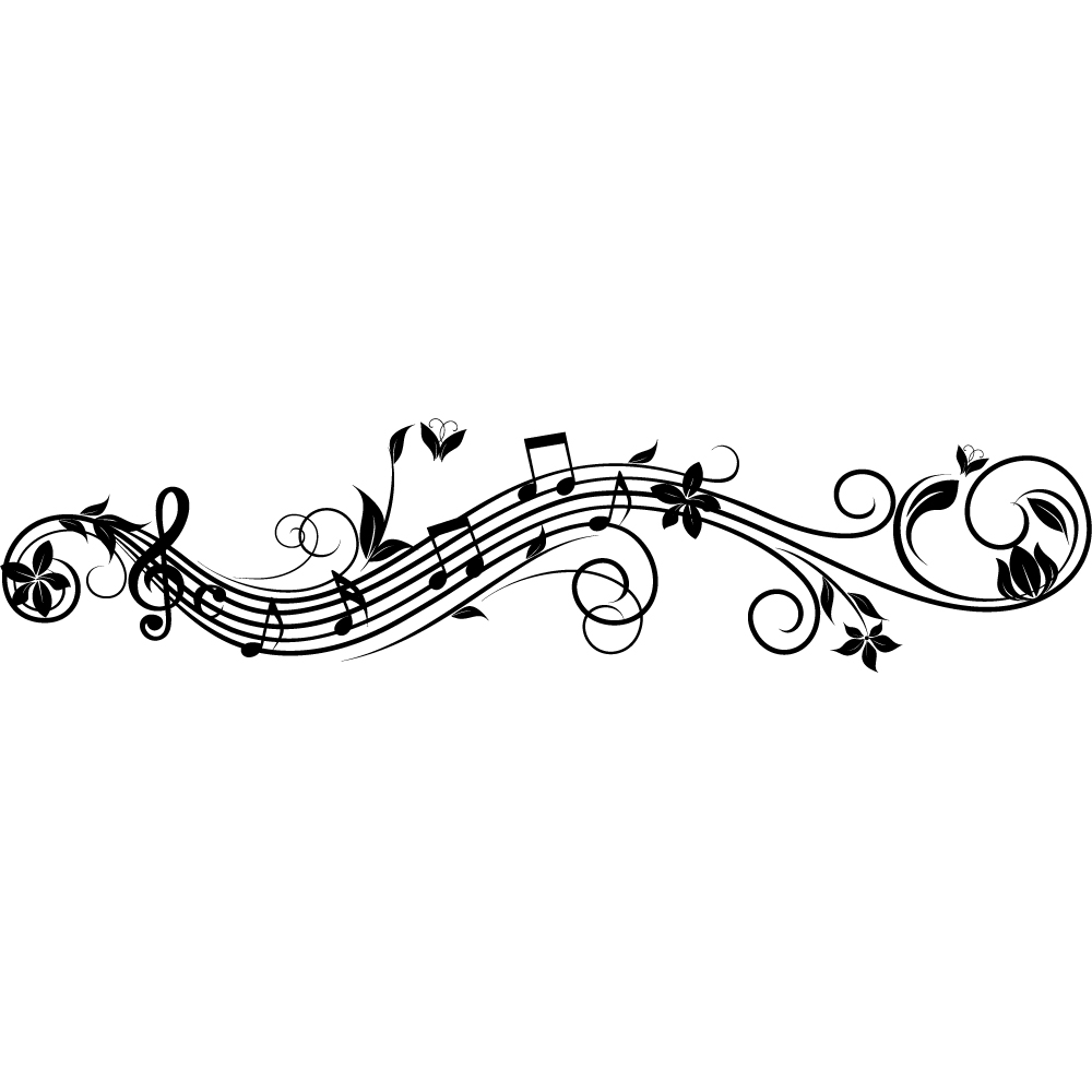 Vinilos folies vinilo decorativo pentagrama musical for Vinilos decorativos sobre musica