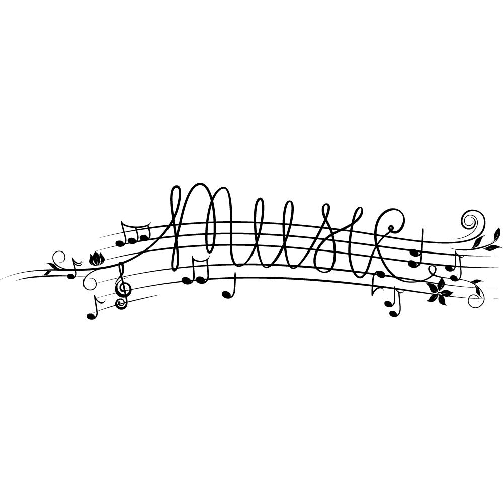 Vinilos folies vinilo decorativo pentagrama musical for Vinilos decorativos instrumentos musicales
