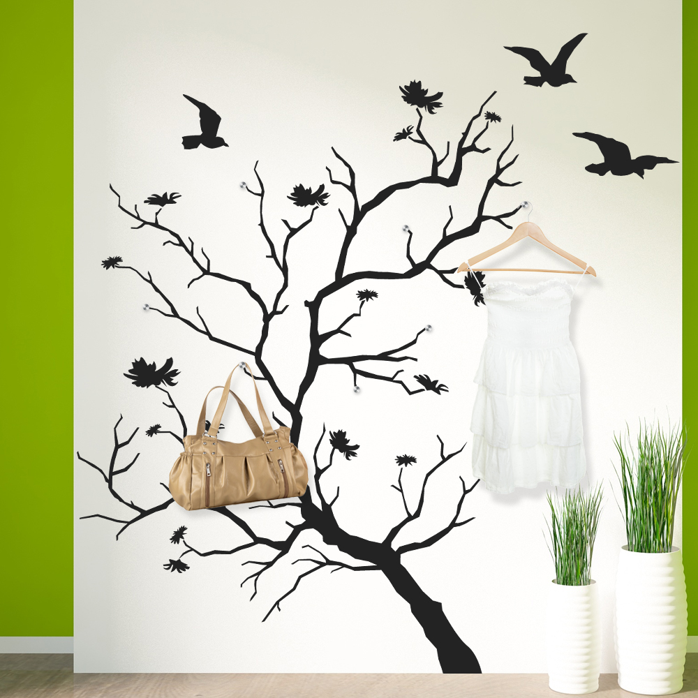 Vinilos folies vinilo decorativo perchero rbol - Vinilo decorativo arbol ...