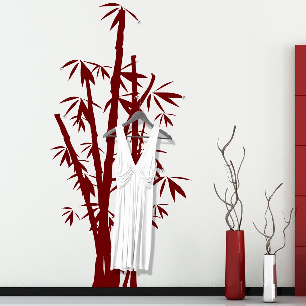 vinilo decorativo perchero bamb