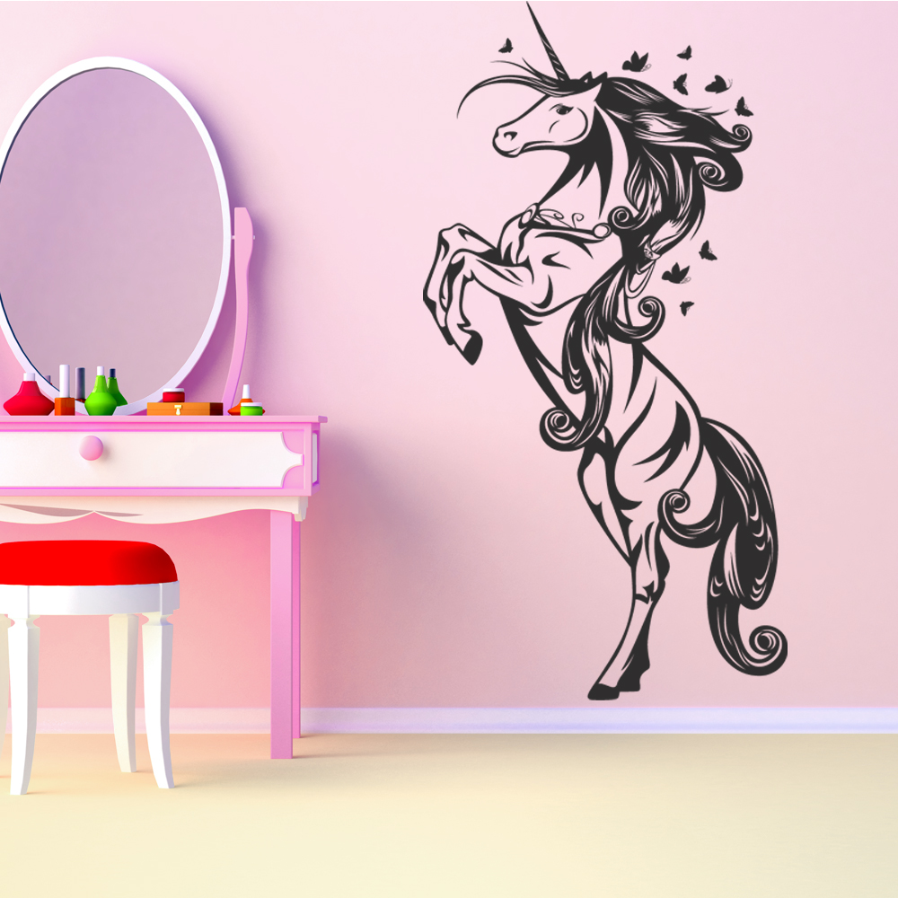 Vinilos folies vinilo decorativo unicornio for Stickers decorativos de pared