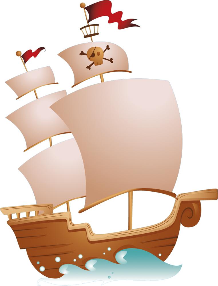 Vinilos folies   Vinilo infantil Barco pirata 2f70fd7b365