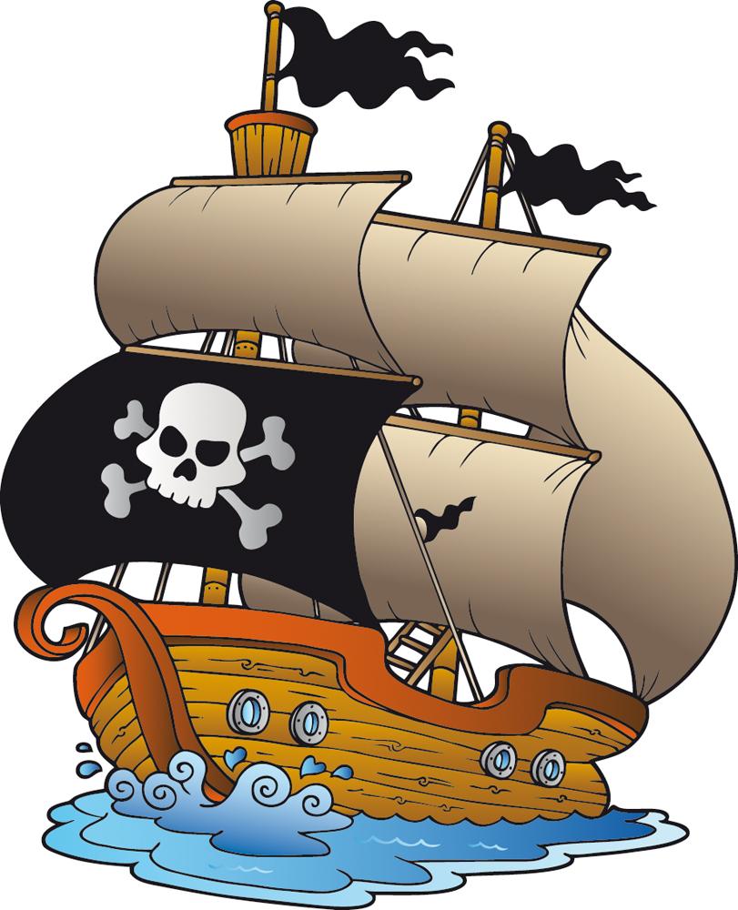 Vinilos folies vinilo infantil barco pirata - Imagenes de barcos infantiles ...