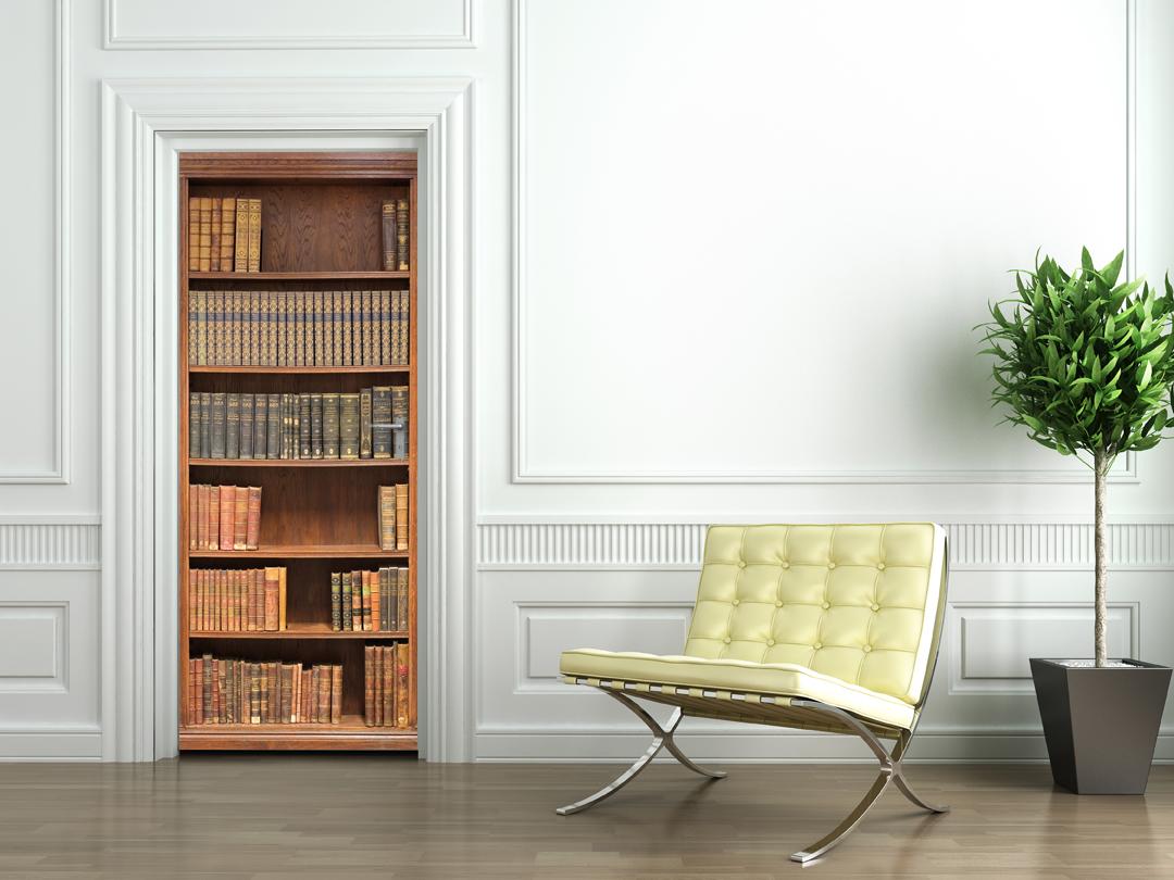 Vinilos folies vinilo para puerta biblioteca - Vinilo para puerta ...