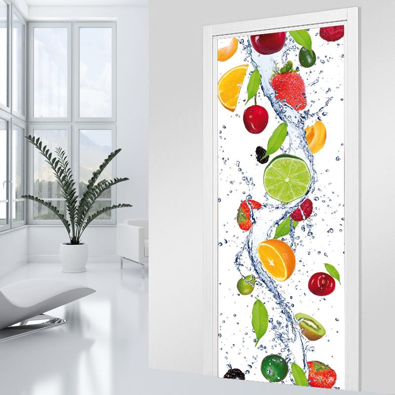 Vinilos folies vinilo para puerta cascada de frutas - Vinilos puertas cocina ...