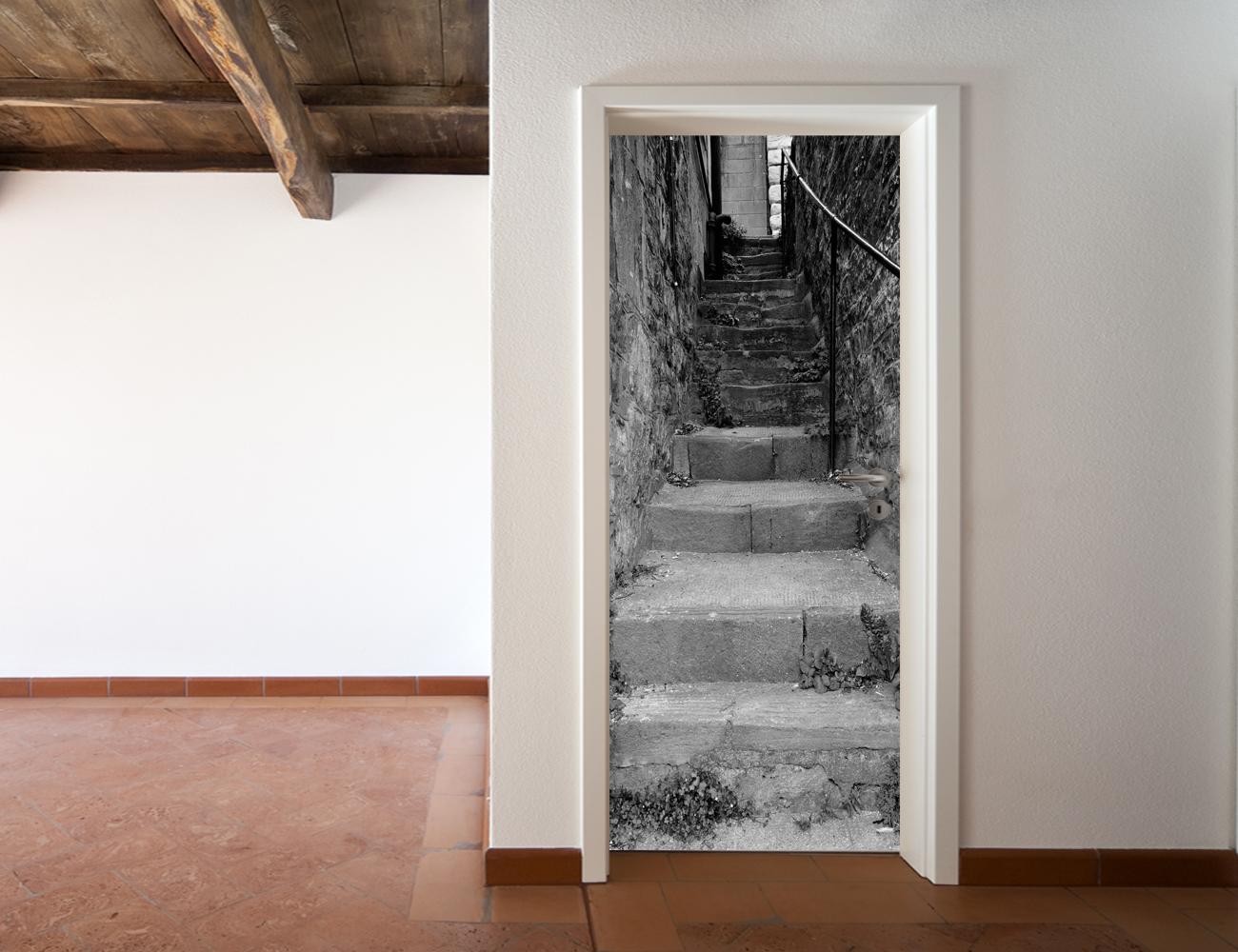 Vinilos folies vinilo para puerta escalera - Puertas para escaleras ...