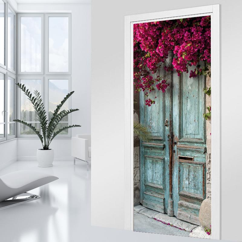 Vinilos folies vinilo para puerta floral - Vinilos para puertas ...