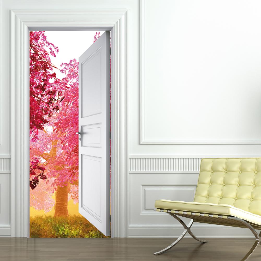 vinilo para puerta naturaleza