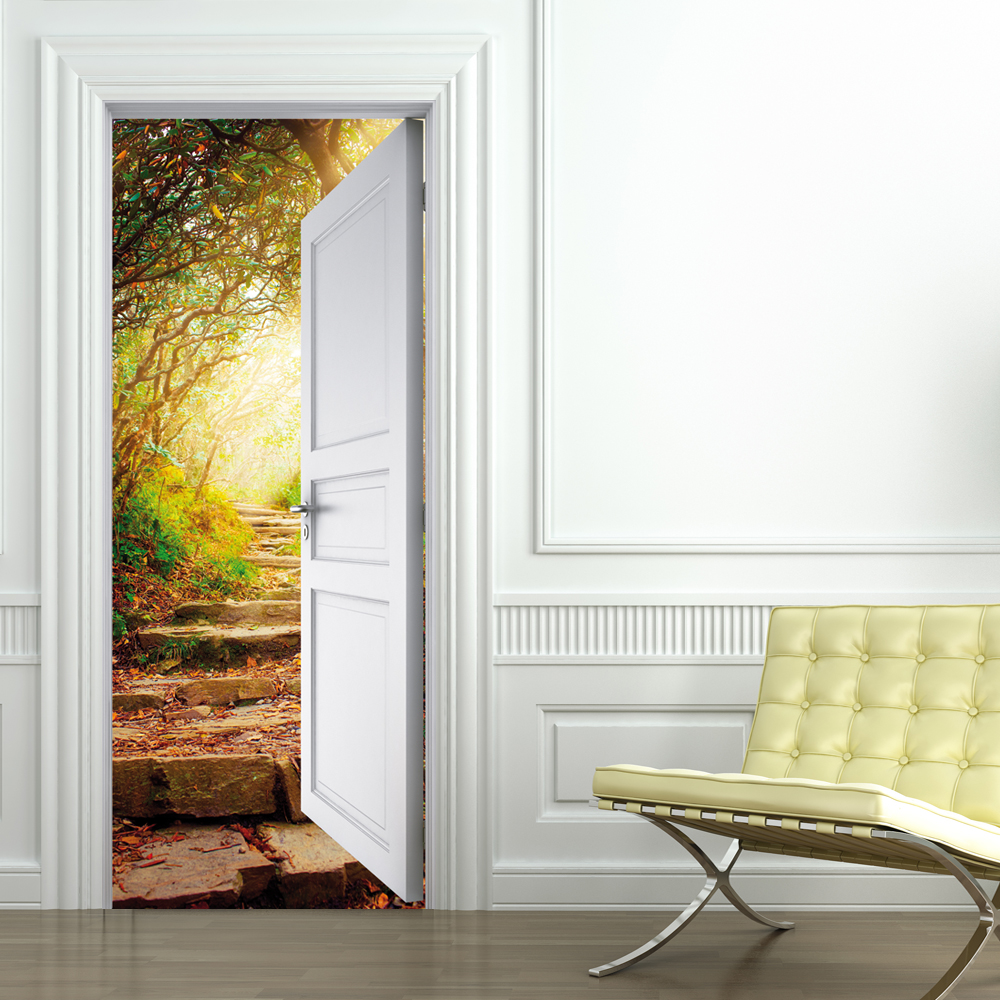 Vinilos folies vinilo para puerta naturaleza - Puertas de vinilo ...