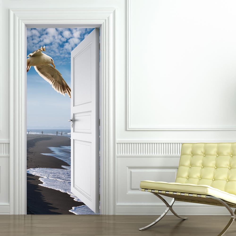 Vinilos folies vinilo para puerta playa - Posters de vinilo ...