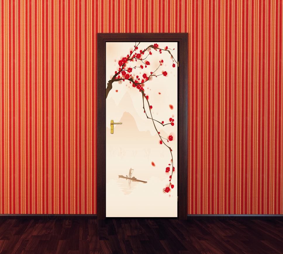Vinilos folies vinilo para puerta rama - Vinilo para puerta ...