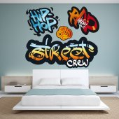 Kit Vinilo decorativo  4 graffitis