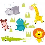 Kit Vinilo decorativo infantil 5 animales