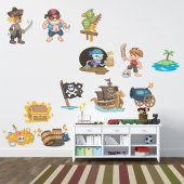 Kit Vinilo decorativo infantil piratas